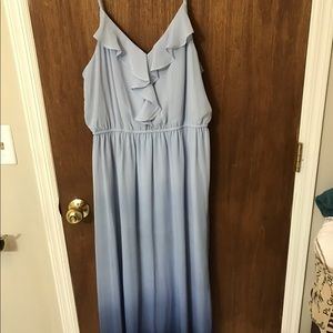 Lauren Conrad Blue Ombre Maxi Dress L